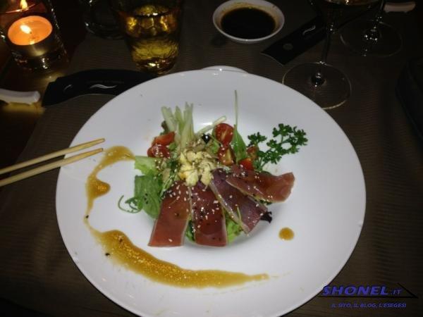Insalata di tonno in salsa yuzu e wasab
